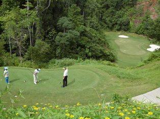 Red Mountain Golf Club Mine Shaft Hole