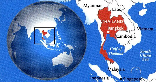 Thailand World Map