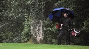 golfer in the rain