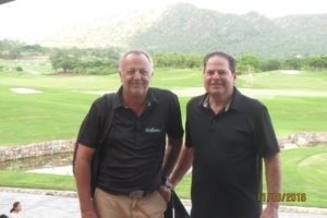 Gary with Golfasian's Hua Hin Manager Ian Morgan at Black Mountain